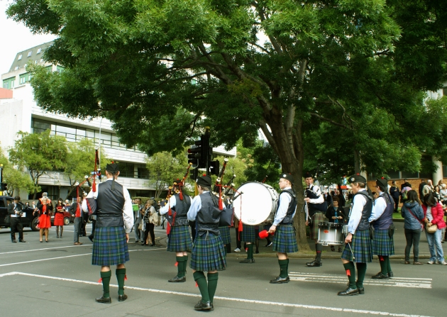 Scottish Pipe Band - the start of the Parade