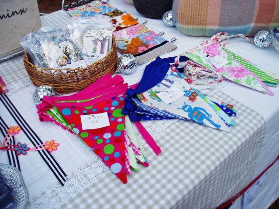 little minx stall - Theives Alley 2013 - Bunting & Gift Tags