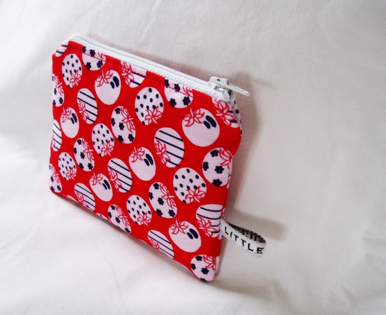 Matchbox Studios April 2013 - red apple Coin Purse