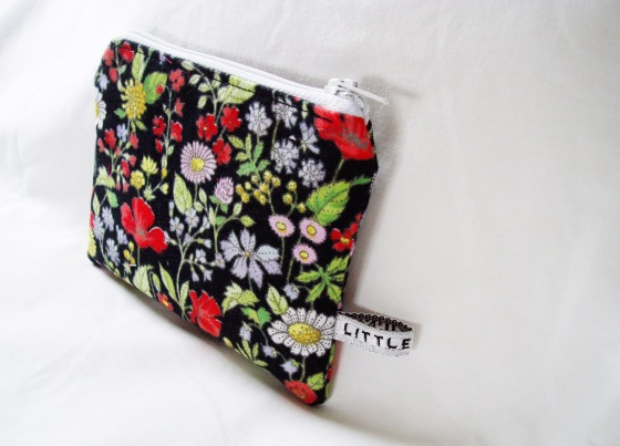 Matchbox Studios April 2013 - black floral Coin Purse