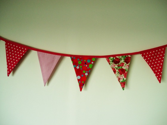 colour therapy - rich, hot pink bunting