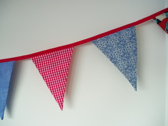 colour therapy - sweet blue & pink bunting